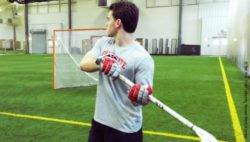 Photo: Brian Ward practices lacrosse; Copyright: The Ohio State University Wexner Medical Center