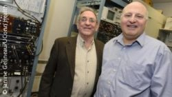 Photo: Neuroscience researchers Constantine Trahiotis, left, and Leslie R. Bernstein; Copyright: Janine Gelineau/UConn Health