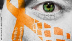 Photo: Orange Multiple Sclerosis ribbon; Copyright: panthermedia.net/semmickphoto