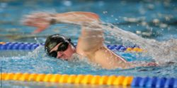 Photo: Swimmer in action