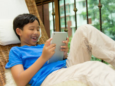 Photo: Boy with a tablet