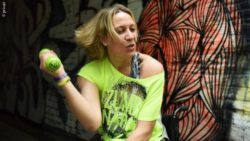 Photo: Conny Runge while her Zumba® class; Copyright: private