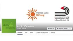 Photo: Screenshot of the Facebook site of Ability4Refugees