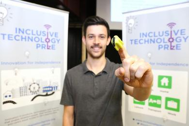 Simon (Director) at the Inclusive Technology Prize Finalists event showcasing Nimble