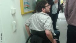 Photo: Johannes Mairhofer in a wheelchair
