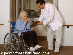 Photo: Elderly woman and a physician