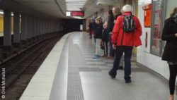 Photo: Subway station orientation system for blind people; © Dirk Michalski