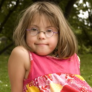 Photo: Girl with Down's syndrome