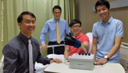 Photo: Researchers with the EsoGlove