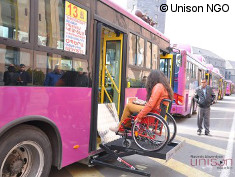 Photo: Accessible city bus in Armenia