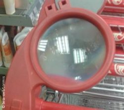 Photo: Magnifying glass on a shopping cart; Copyright: beta-web/Lormis