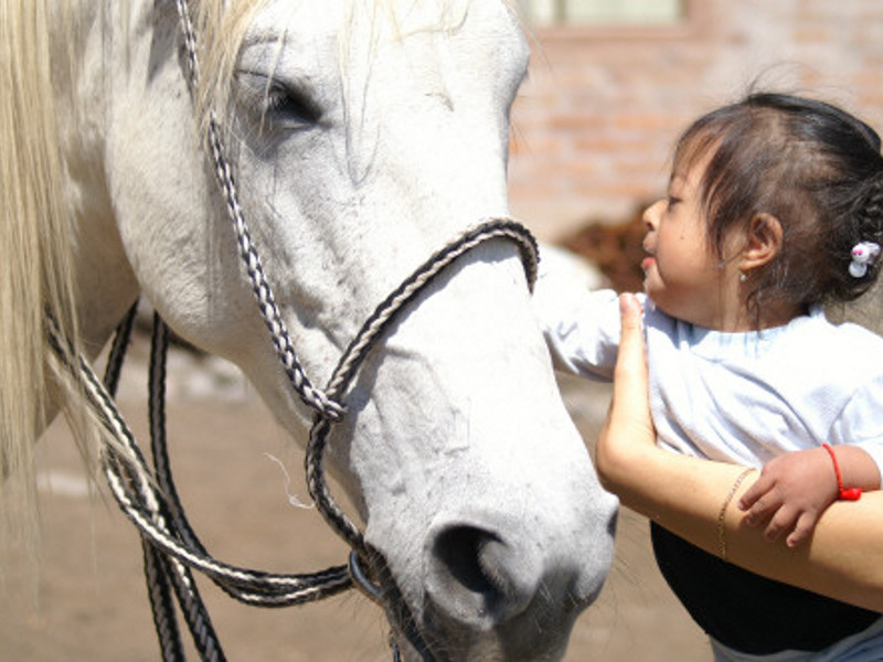 Photo: Child with horse; © AM-EN