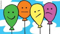 Graphic: Four different volored balloons; Copyright: Michael Worful