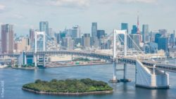 Photo: A Picture of the Tokyo skyline with the rainbow bridge; Copyright: Tokyo 2020