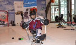 Photo: This para-ice-hockey-dummy is called Hotte; Copyright: beta-web/Hofmann