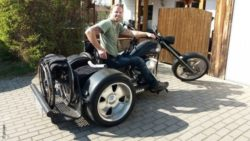 Photo: Mario Harig on his trike; Copyright: private
