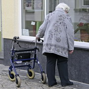 Photo: Older woman with walker