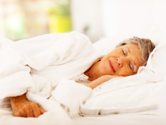 Photo: Elderly woman sleeping