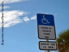 Photo: Sign for disabled parking space