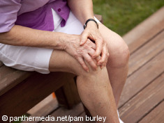 Photo: Knee of an elderly woman