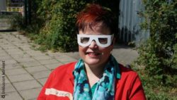 Photo: Ulrike Pohl with simulation glasses