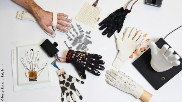 Photo: Prototypes Lorm Glove; © Design Research Lab, Berlin