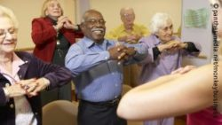 Photo: Elderly people exercising