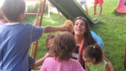 Photo: Maysoon Zayid with children