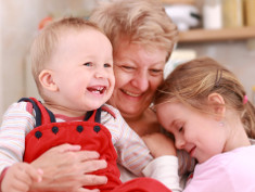 Photo: Grandmother with grandkids