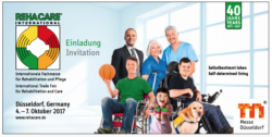 Graphic: Trade fair innvitation card REHACARE 2018
