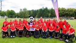 Photo: The German team which starts at the World Para Athletics European Championships; Copyright: Binh Truong/DBS