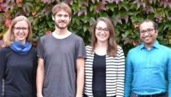 Photo: The neolexon founding team: Hanna Jakob, Jakob Pfab, Mona Späth and Swaroop Nunna; Copyright: neolexon