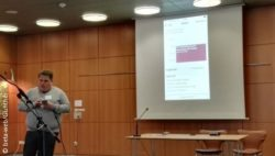 Photo: Simon Janatzek talks about accessible smartphones
