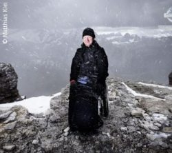 Photo: Matthias Klei on the top of a snowy mountain; Copyright: Matthias Klei