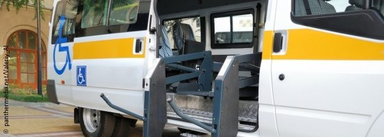 Photo: An accessible bus with a hydraulic ramp; Copyright: panthermedia.net/Valeriy_Al