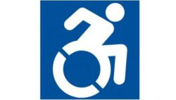 Graphic: The new accessible icon show the typical symbol of a wheelchair user but he is more active and you can see that he really moves; Copyright: not required, free for public use