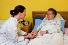Photo: Old woman and nurse