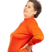 Photo: Elderly woman with osteoporosis