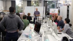 Photo: A workshop in the FabLab; Copyright: Projekt EL4