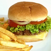 Photo: A burger and french fries