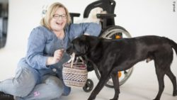 Photo: Andrea Heidrich with her dogs; Copyright: private