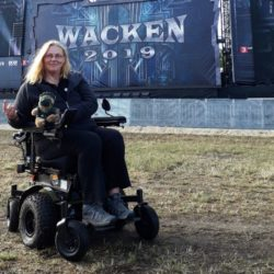 Photo: Andrea Schütt at the Wacken Open Air 2019; Copyright: private