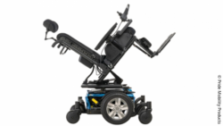 Photo: an electric wheelchair; Copyright: Pride Mobility Products
