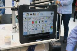 Photo: The Humantechnik eye control system for iPad; Copyright: beta-web/Schlüter