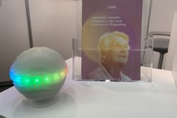 Photo: ichó, the glowing ball, at REHACARE 2019; Copyright: beta-web