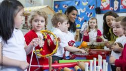 Photo: Children playing with musical instruments in the classroom; Copyright: panthermedia.net/Graham Oliver