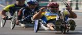 Phto: Handbiker in action; linked to