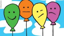 Graphic: Four different colored balloons; Copyright: Michael Worful