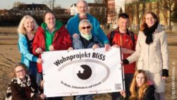 Photo: Members of the association on a construction area; Copyright: Wohnprojekt BliSS