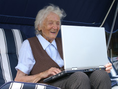 Photo: Older woman with a laptop